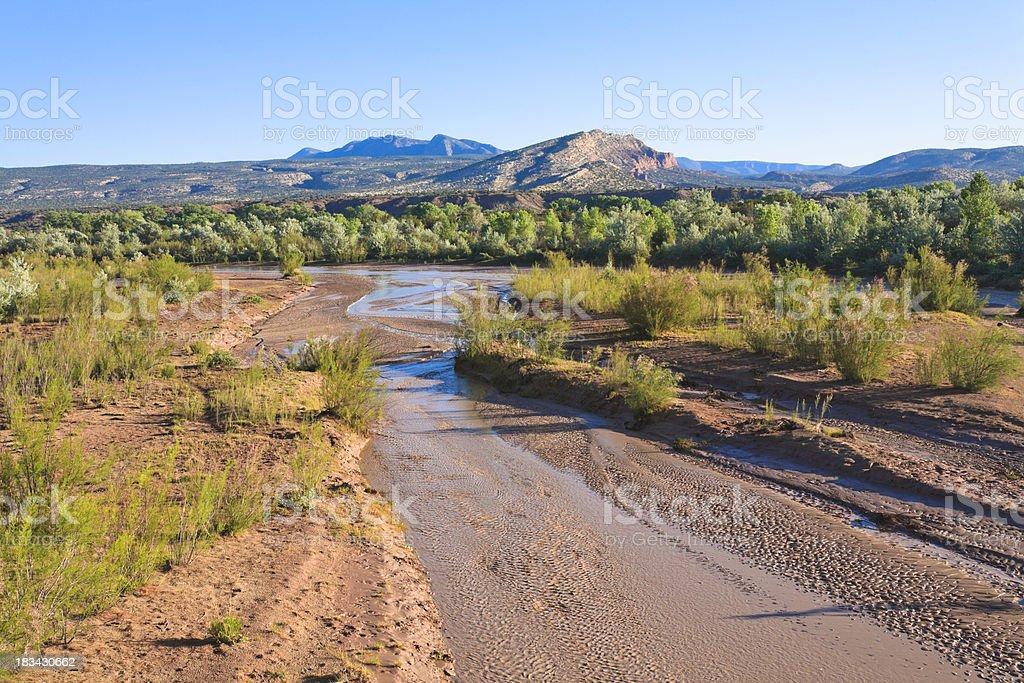 New Mexico desert landscape near Albuquerque royalty-free stock photo
