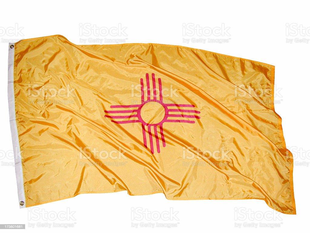 New Mexico Flag, USA royalty-free stock photo