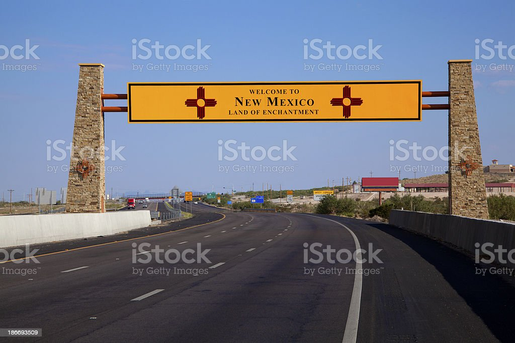 New Mexico Highway Sign - Welcome royalty-free stock photo