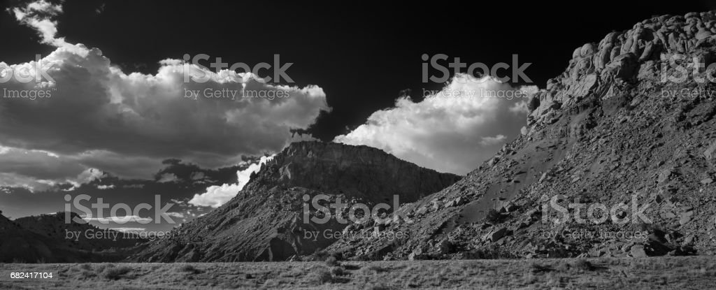 New Mexico Landscape Black and White royalty-free stock photo