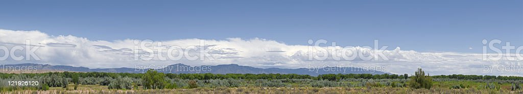 New Mexico Lanscape with Thunderclouds royalty-free stock photo