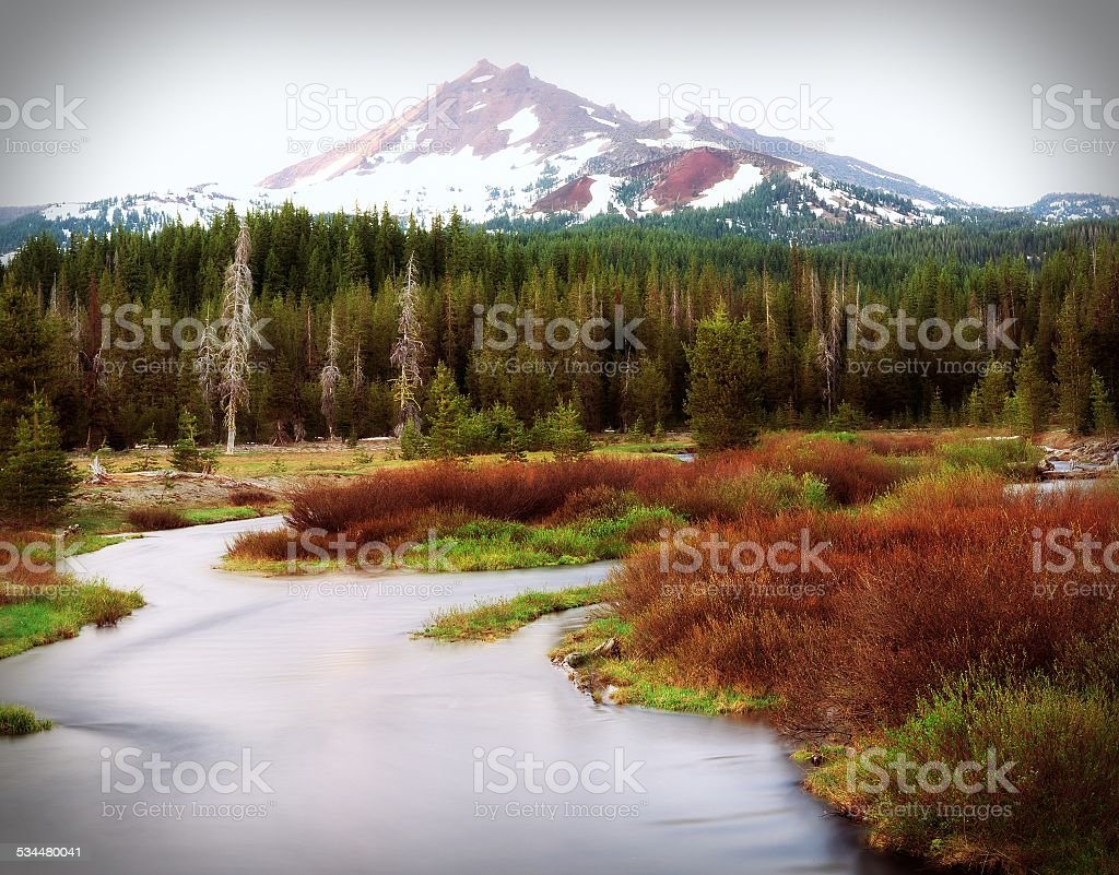 New Mexico Late Fall River and Mountain stock photo
