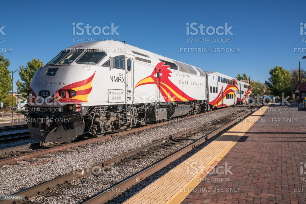 New Mexico Rail Runner Locomotive stock photo
