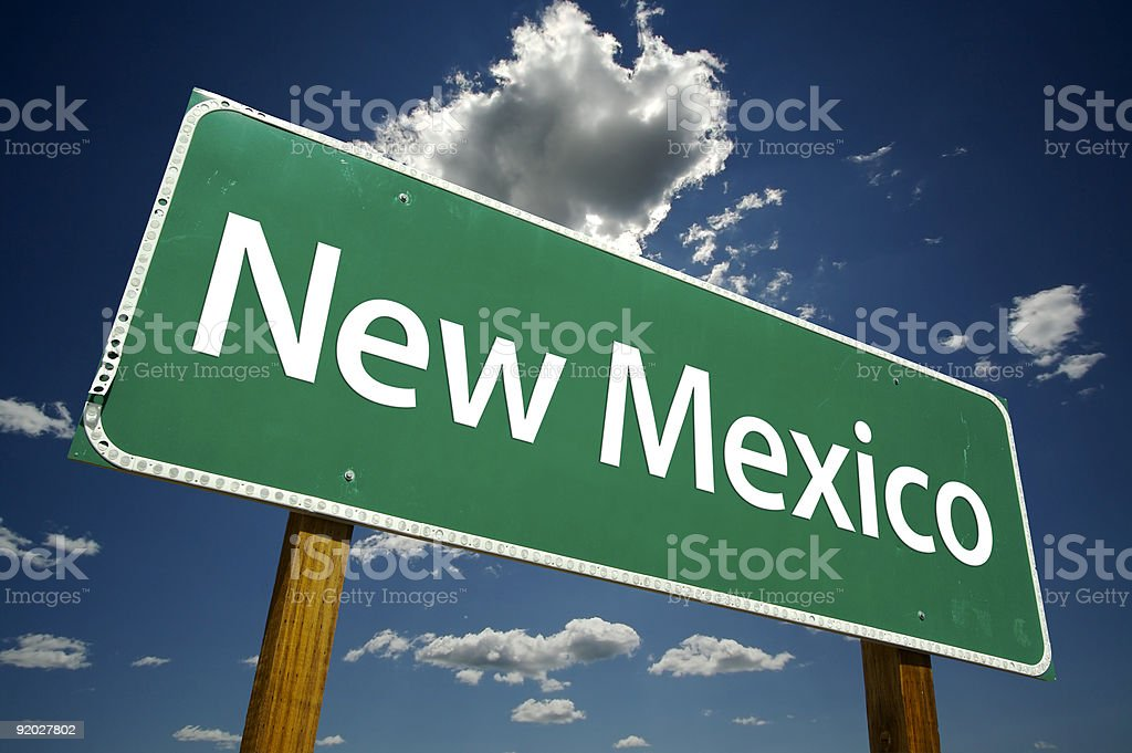New Mexico Road Sign royalty-free stock photo