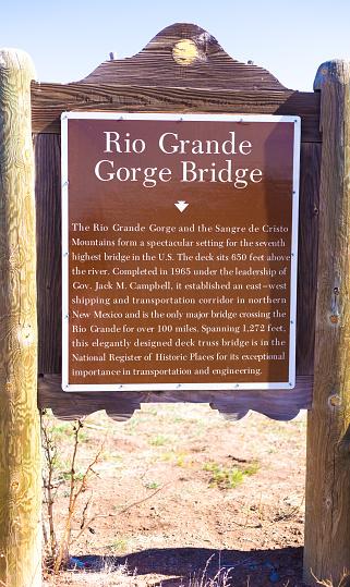 New Mexico Road Trip: Rio Grande Gorge Bridge Marker