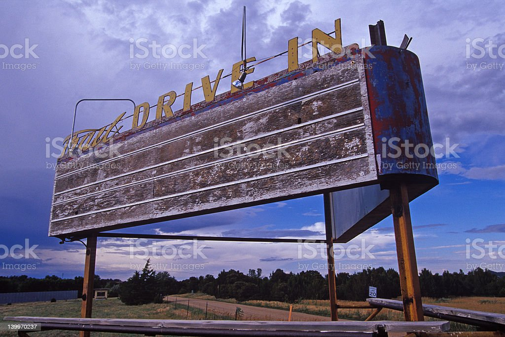 New Mexico Roadside Drive In royalty-free stock photo