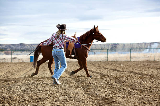 New Mexico rodeo girl stock photo