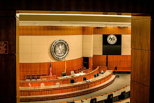 New Mexico Senate inside the Capitol Buil;ding in Santa Fe stock photo
