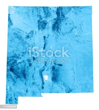 173169385istockphoto New Mexico Topographic Map Isolated 174588899