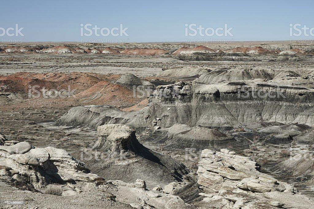 New Mexico's Bisti Badlands stock photo
