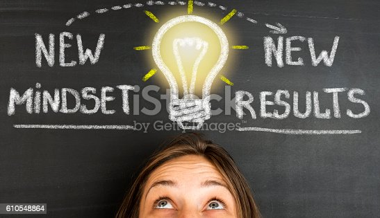 istock New Mindset New Results concept on blackboard 610548864