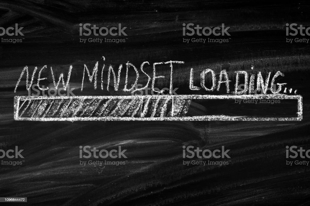 New Mindset New Results - Royalty-free Apoio Foto de stock