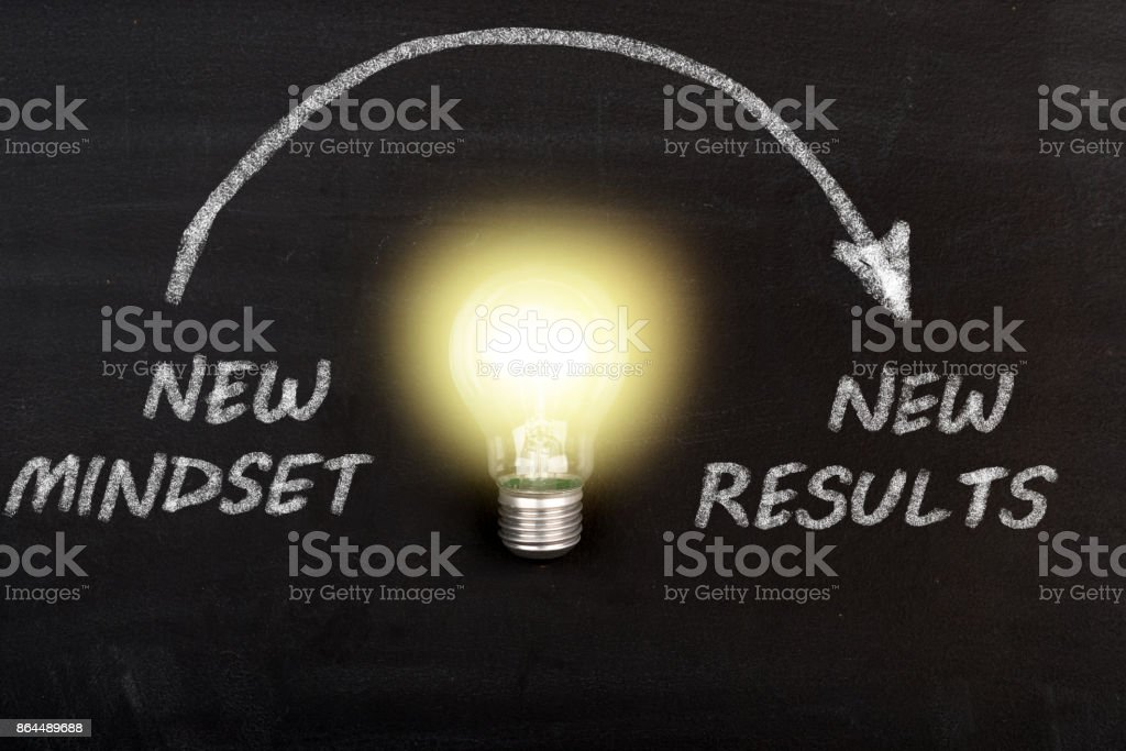 New Mindset New Results stock photo