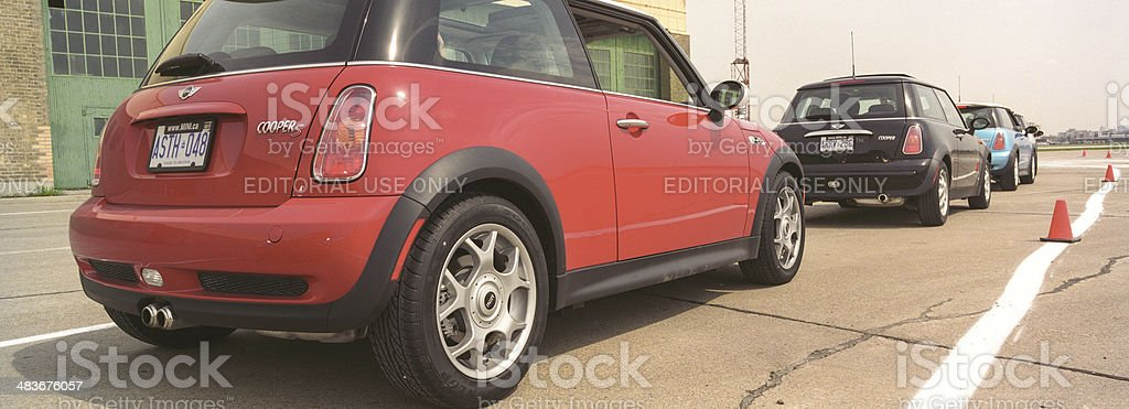 New MINI introduction in Toronto royalty-free stock photo