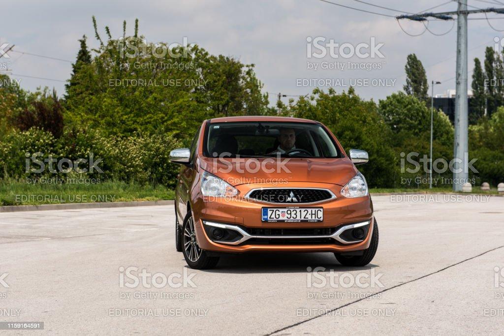 New Mitsubishi Space Star in orange colour. Brand new 2019 model...
