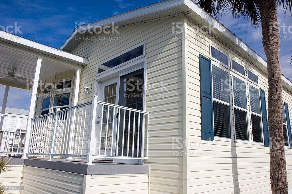 New Mobile Home, Florida Retirement Community stock photo