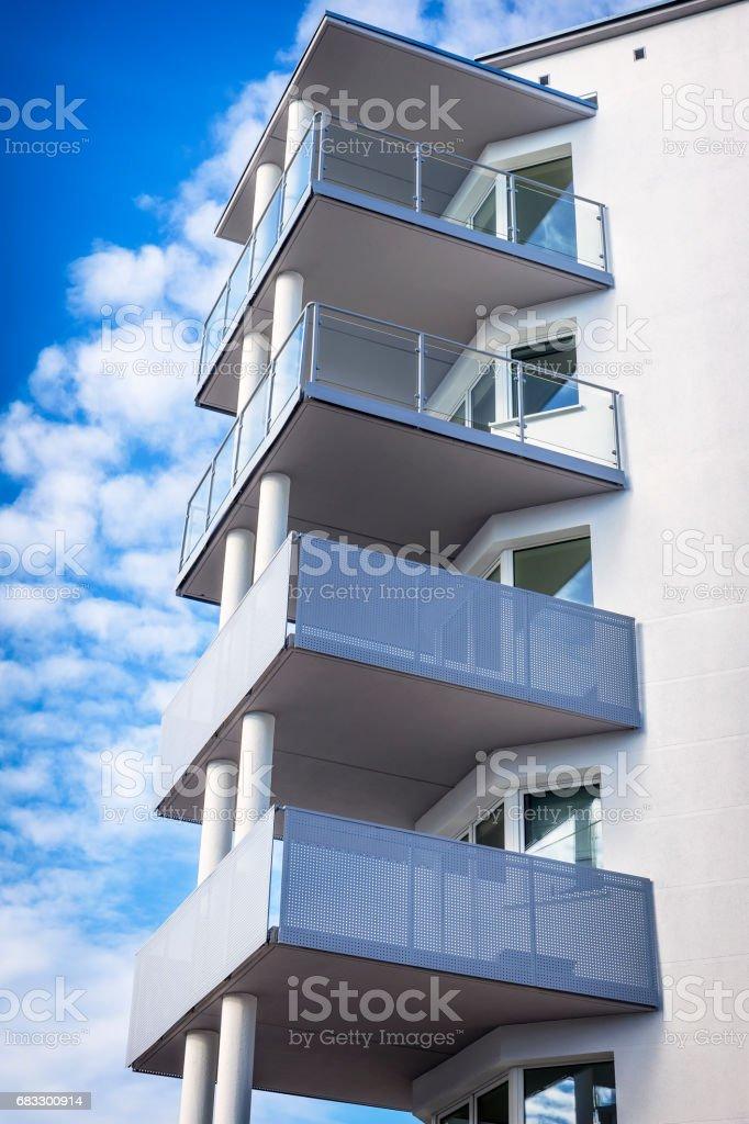 Modern appartement nieuwbouw royalty free stockfoto