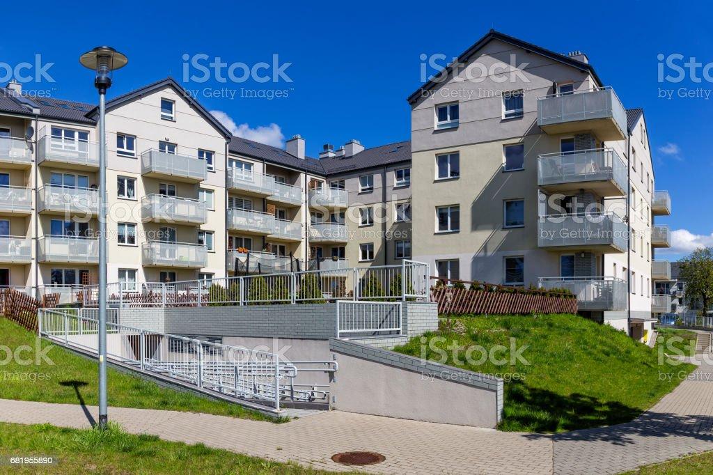 New modern apartment building with underground garage, Szczecin,...