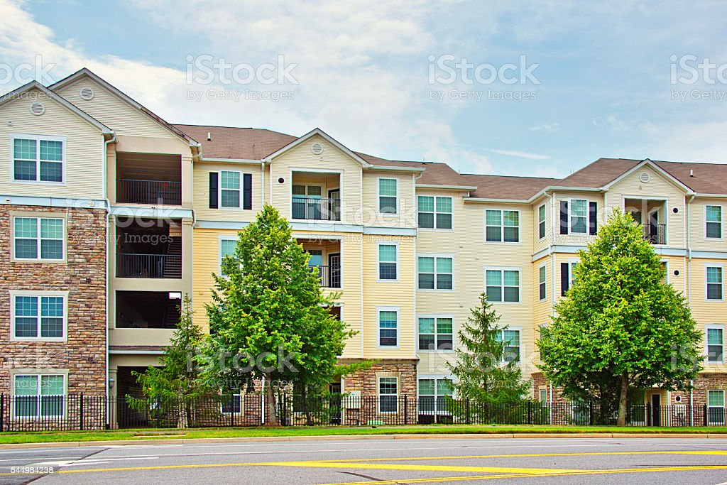 New Modern Apartments stock photo