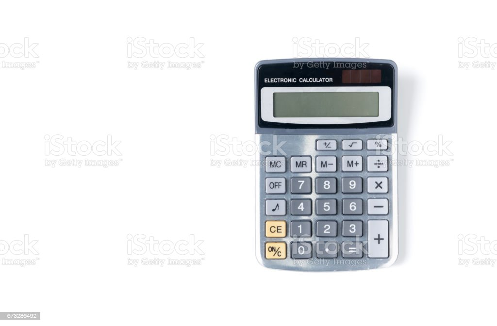 new modern calculator isolated on white background royalty-free stock photo