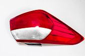 new modern car red back light