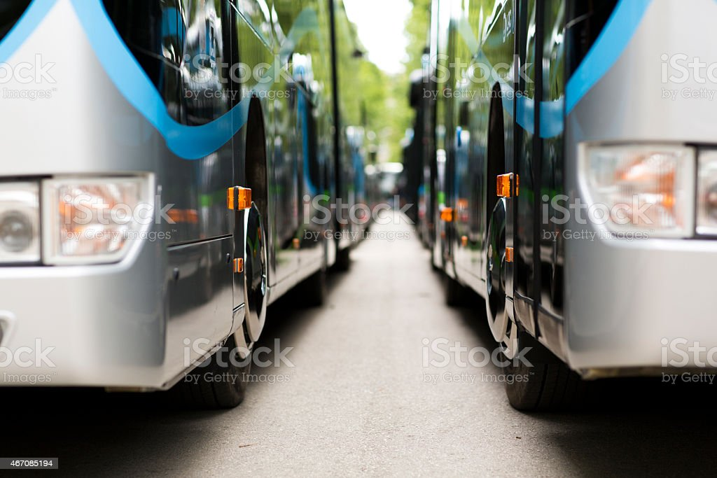 New modern city bus stock photo