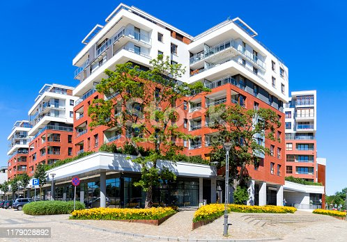 889473004 istock photo New modern colorful apartment building 1179028892