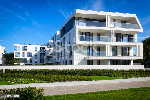 889473004 istock photo New modern complex of apartment buildings with white facade 944283158