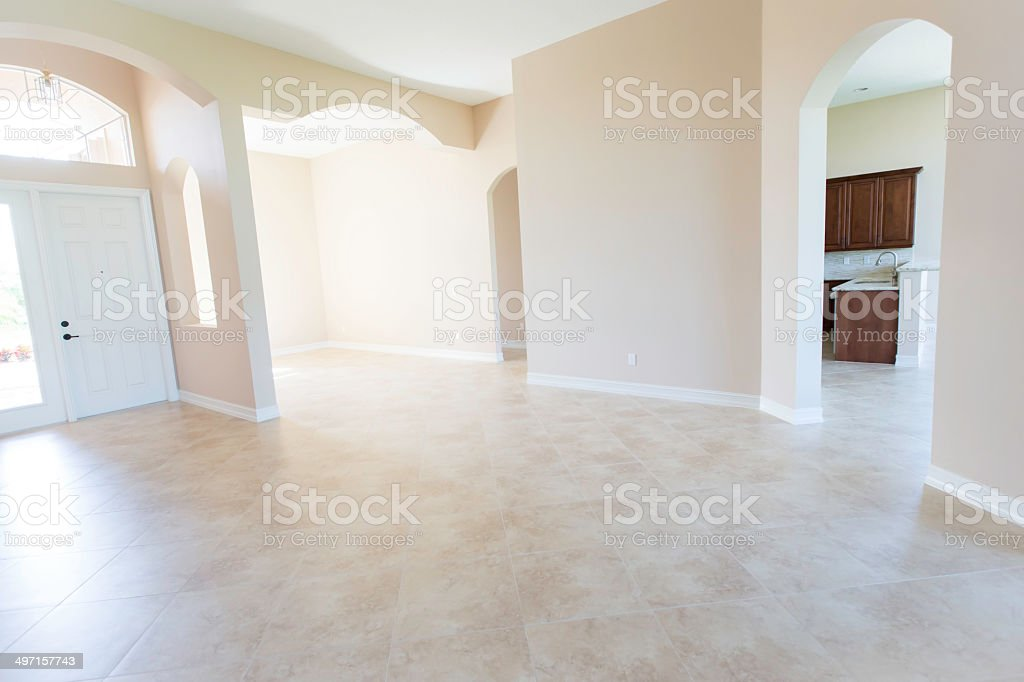 New Modern Home Entranceway With Empty Rooms Stock Photo Download Image Now Istock