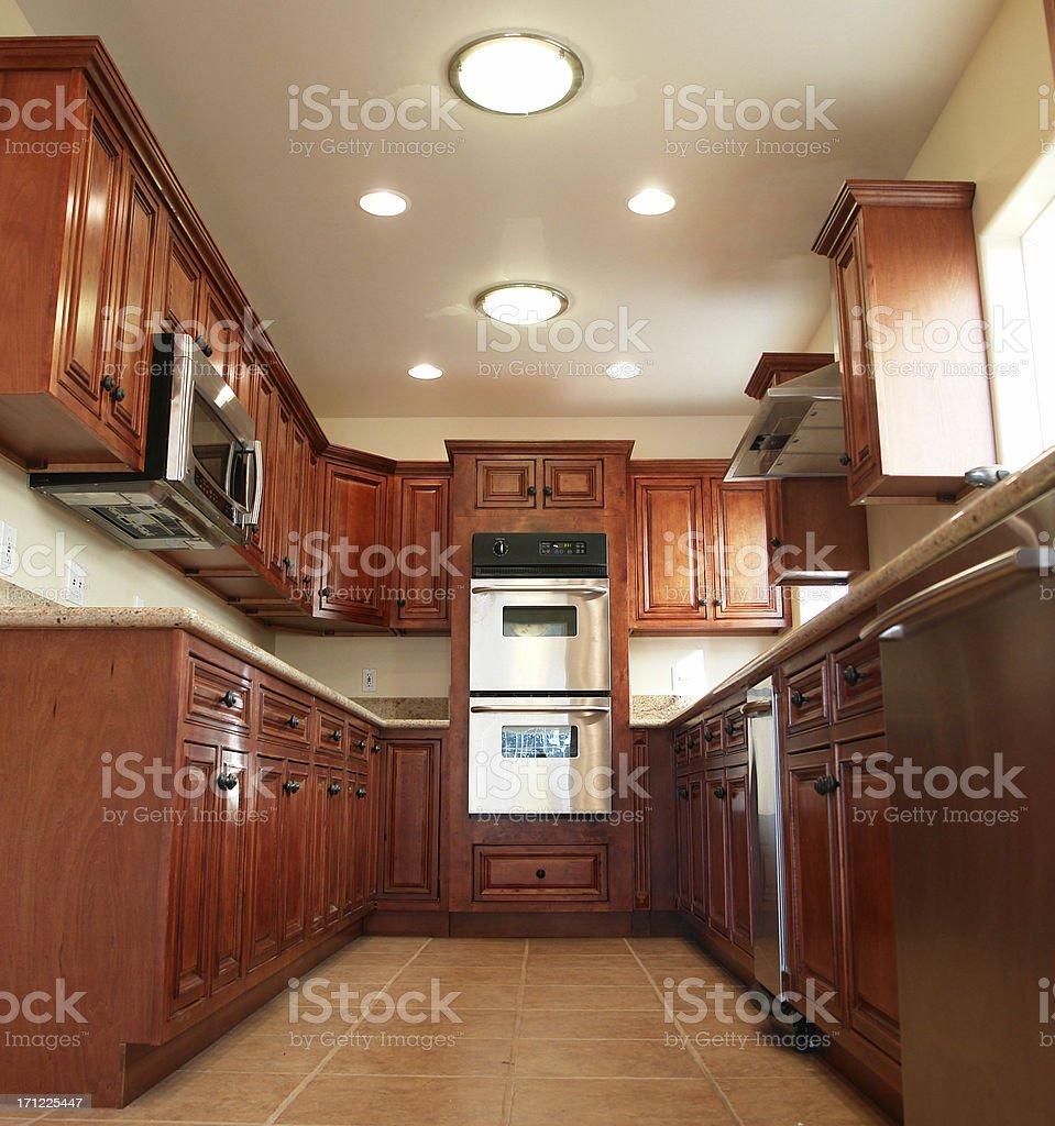 New Modern Home Kitchen Sunlight royalty-free stock photo