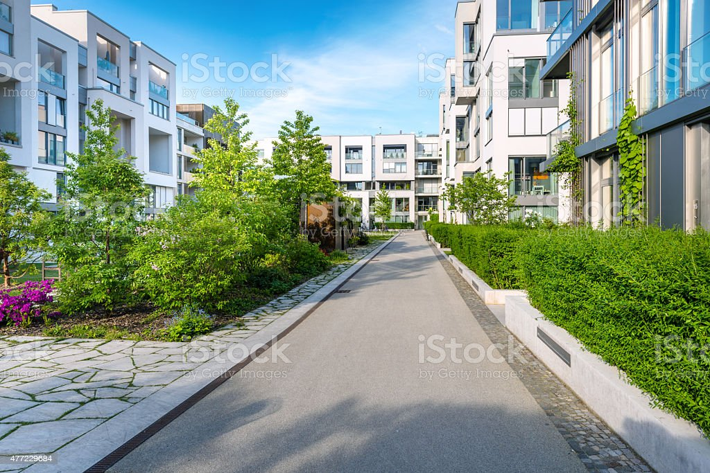 new modern houses stock photo