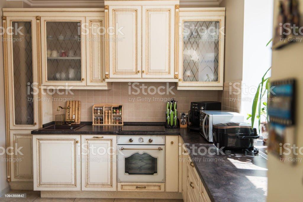 Neue moderne Küche Interieur – Foto