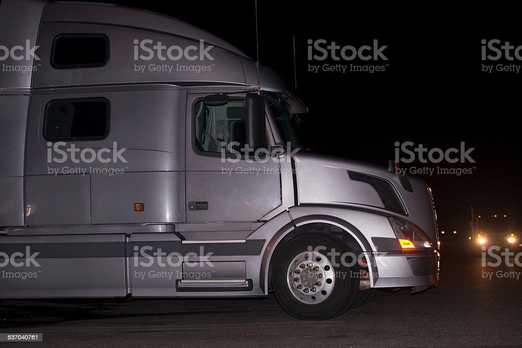 New modern luxury semi truck dream of every truck driver stock photo