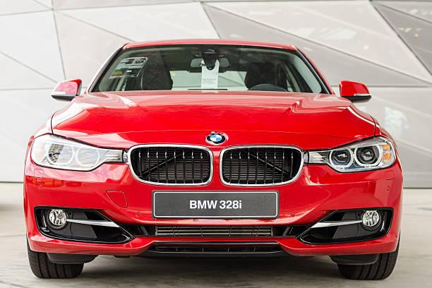 New modern model of family sedan BMW 328i stock photo