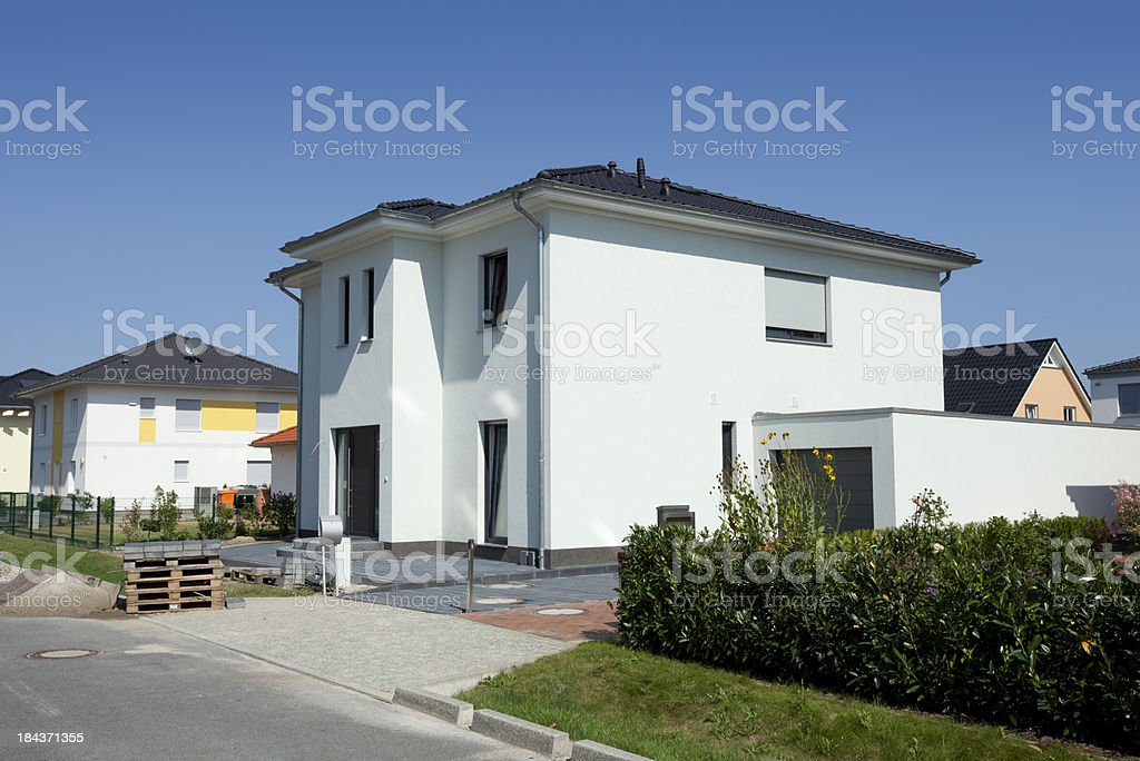 New modern one family house royalty-free stock photo