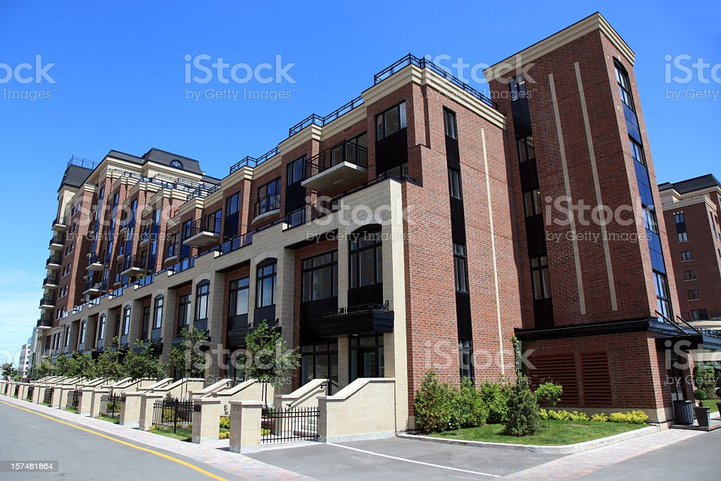 New Modern Row Houses and Apartments royalty-free stock photo