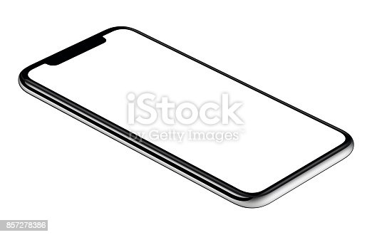 istock New modern smartphone mockup CCW slightly rotated isolated on white background 857278386