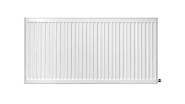 New modern white radiator stock photo
