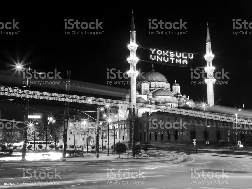 New Mosque at Eminonu,Istanbul royalty-free stock photo