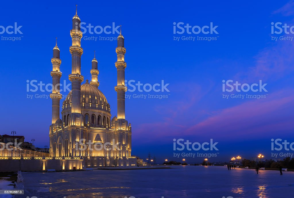 New mosque in Baku stock photo