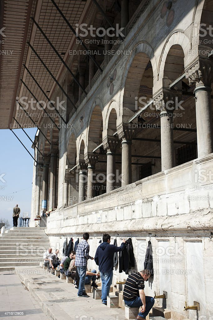 new mosque in istanbul royalty-free stock photo