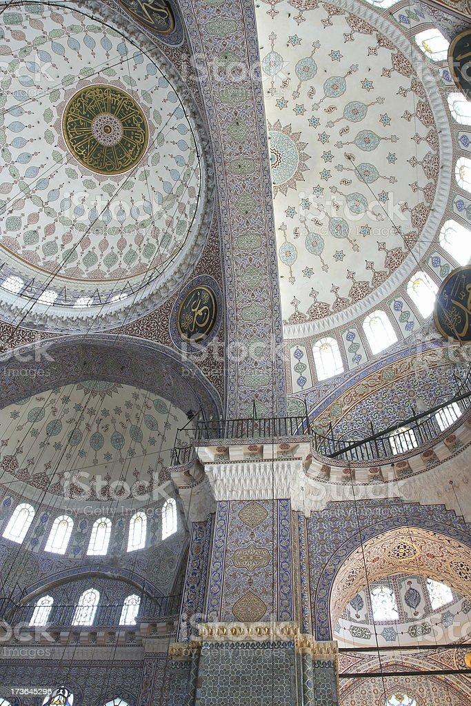 New mosque interior royalty-free stock photo