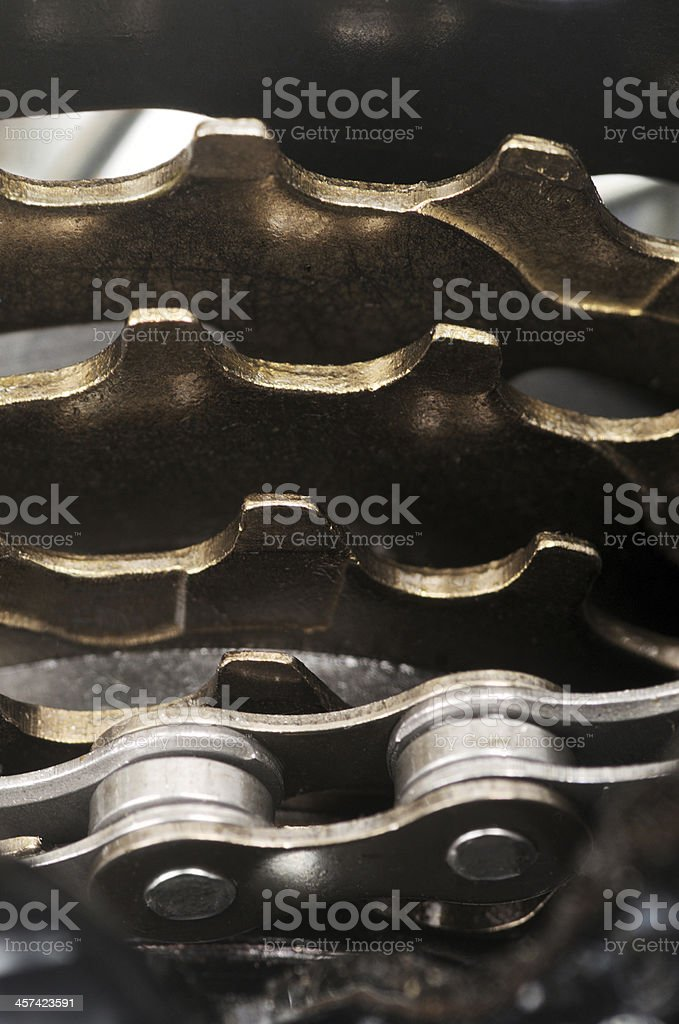 New Multiple Sprocket Cassette On Bicycle Gears royalty-free stock photo