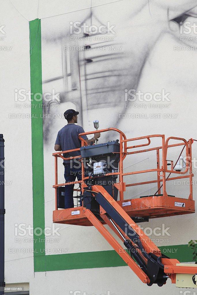 Photo libre de droit de Nouvelle Peinture Murale banque d\'images et ...