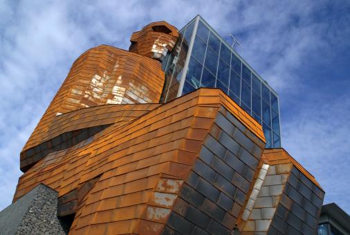 New Museum Building With Corten Steel Statue Corpus Leiden Stock