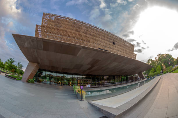 New National Museum of African American History and Culture in DC stock photo
