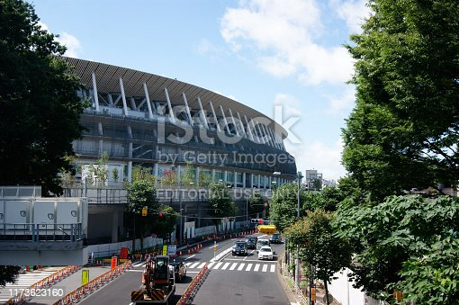 1188904934 istock photo New National Stadium of Tokyo under construction being prepared for the 2020 Olympic games. 1173623160