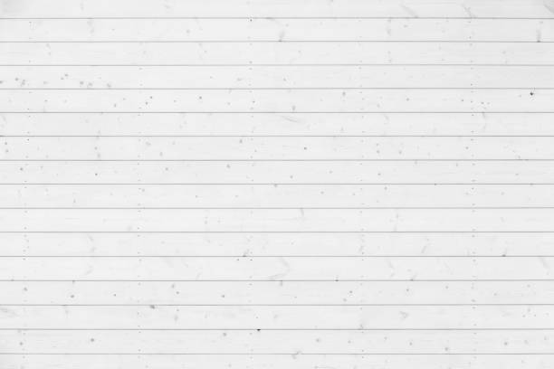 New natural white wooden wall, background texture stock photo