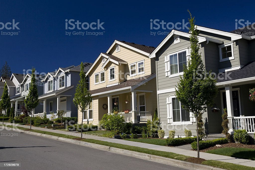 New neighborhood royalty-free stock photo