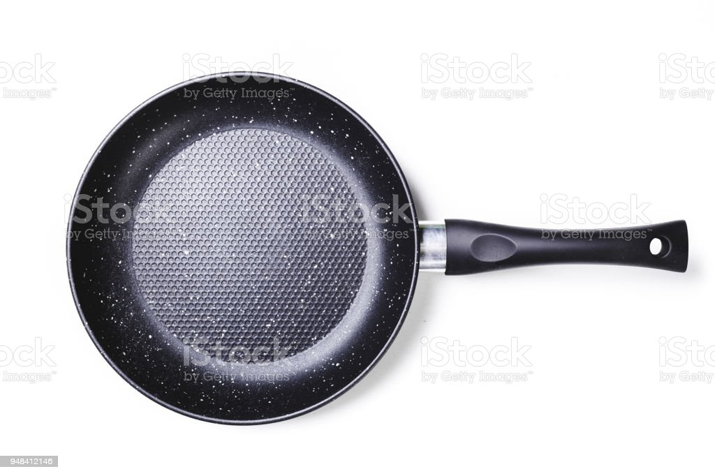 New non-stick frying pan stock photo